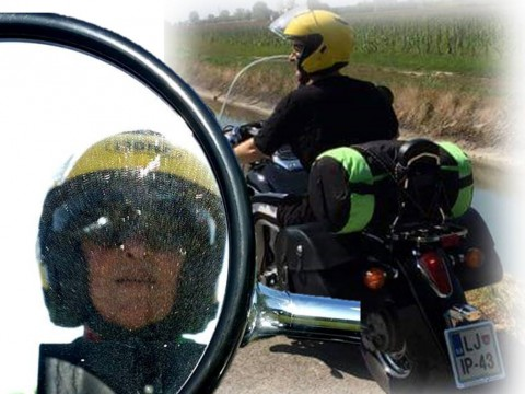 z motorjem v Dolomite